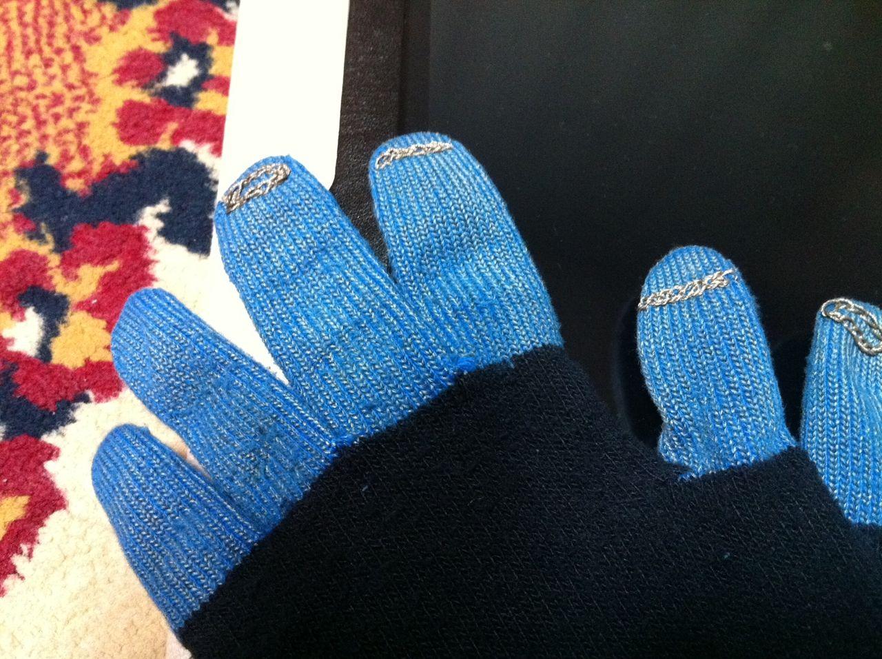 導電糸手袋1