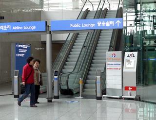 1泊2日、ソウル弾丸ツアー--仁川(インチョン)空港のJALラウンジ