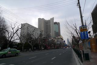 上海で過ごす大晦日の夕方。