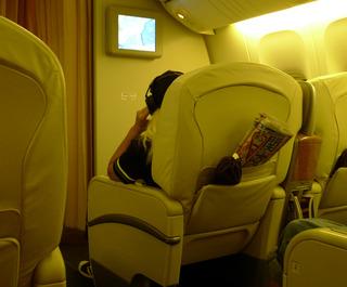 日本航空JALファーストクラスの機内食2012年2月