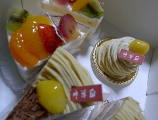 観音寺まんじゅうで有名な白栄堂のケーキ