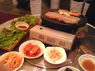 韓国風屋台村「ゴシギ」でサムギョプサルを食す! @赤坂見附