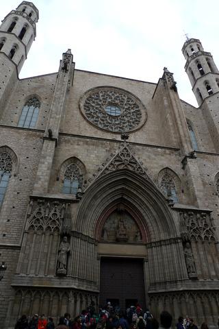 初めてのバルセロナ旅行--サンタ・マリア・ダル・マル教会
