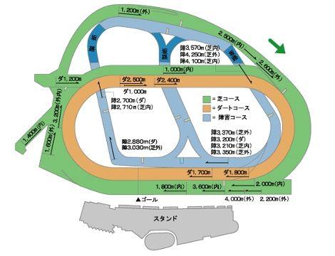 JRA中山競馬場コース図