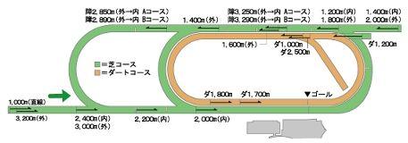新潟競馬場コース平面図