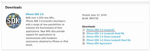 iPhoneSDKのダウンロード