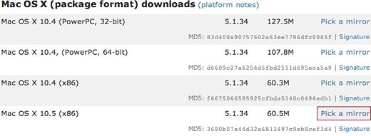 MacOSXにMySQLをインストールする方法 1