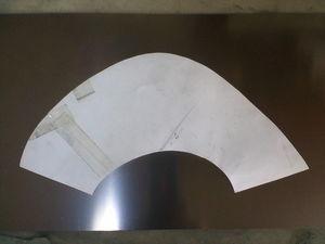 テーパーエンドキャップ製作 型紙