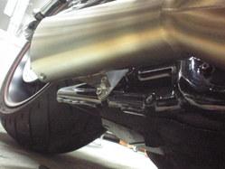v-rod バンス&ハインズ管 ステー製作1