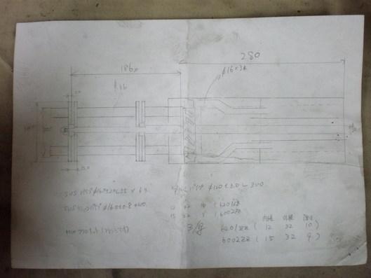 ガトリンク砲マフラー構造図
