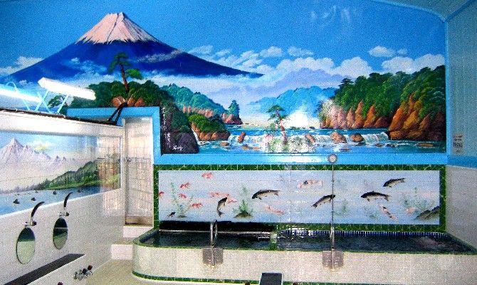 今回は銭湯のビジュアル、ペンキ絵の富士山を巡ってみることにしましょう。