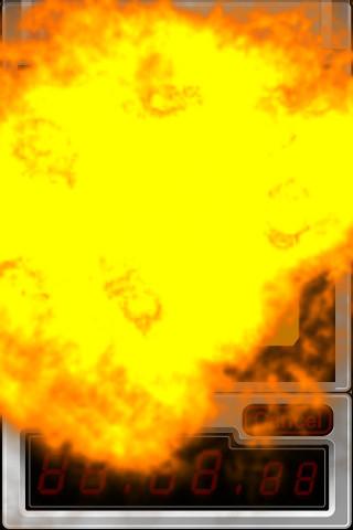 派手な爆発音&振動と共に、自爆!