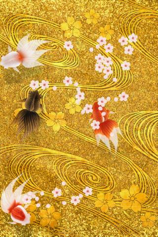 ゆらりゆらりと金魚が泳ぎ、花びらが舞う。美し過ぎる。