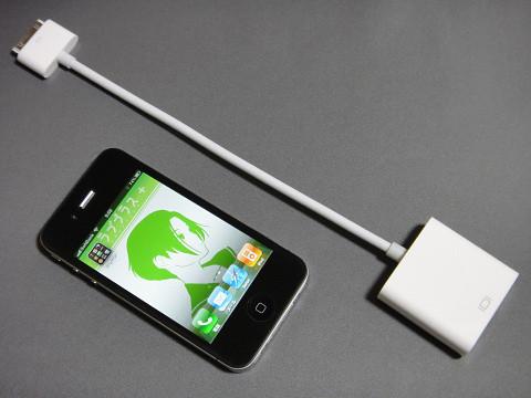 アダプタは取り扱い易い長さ&大きさで携帯性にも優れている。